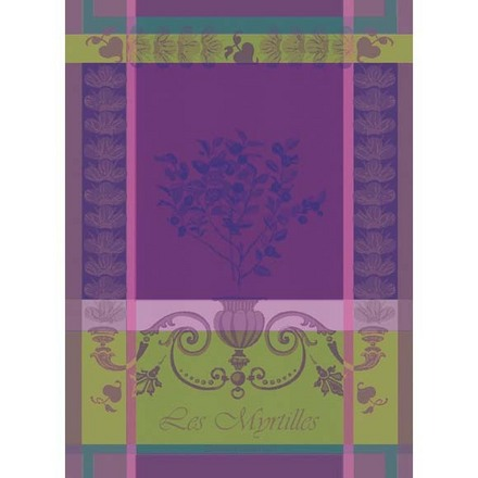 """Myrtilles Violet Kitchen Towel 22""""x30"""", 100% Cotton picture"""
