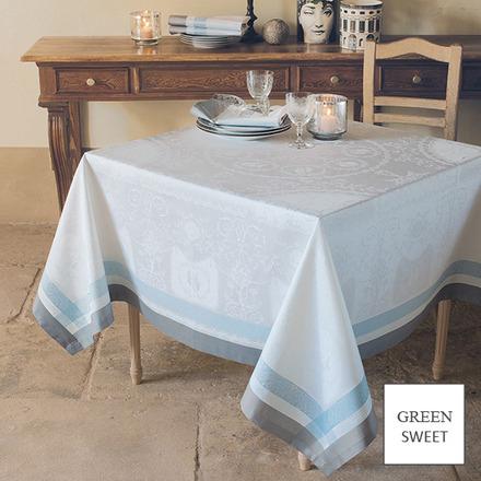 "Bagatelle Soie Tablecloth 68""x68"", GS Stain Resistant picture"