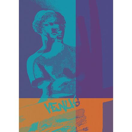 """Louvre Venus Bleu Kitchen Towel 20""""x28"""", 100% Cotton picture"""