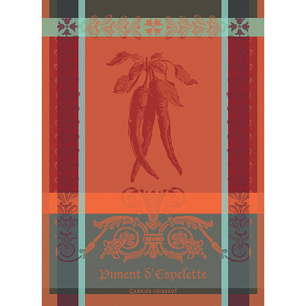 "Piment D'Espelette Epices Kitchen Towel 22""x30"", 100% Cotton picture"