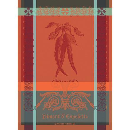 """Piment D'Espelette Epices Kitchen Towel 22""""x30"""", 100% Cotton picture"""