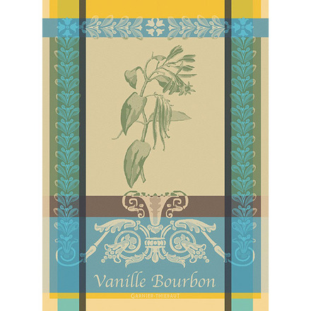 "Vanille Bourbon Eden Kitchen Towel 22""x30"", 100% Cotton picture"