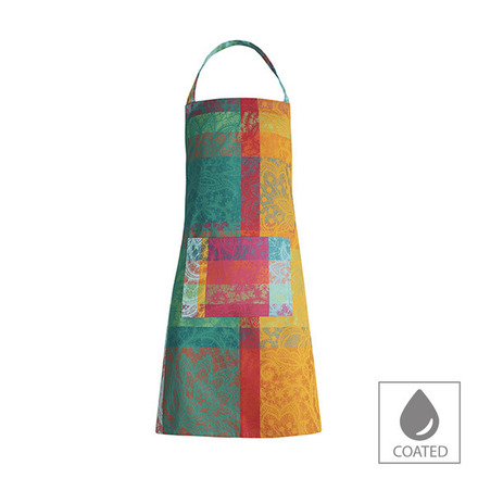 "Mille Dentelles Floralies Apron 30""x33"", Coated Cotton picture"