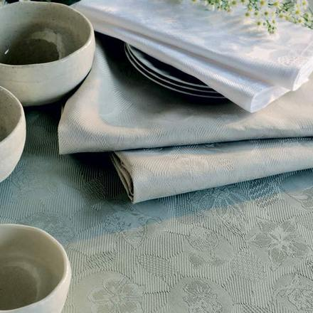 "Mille Pensees Aluminium Tablecloth 71""x71"", Cotton picture"