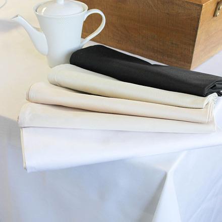 Plain Satin Cottonrich White Tablecloth Square 72x72 picture