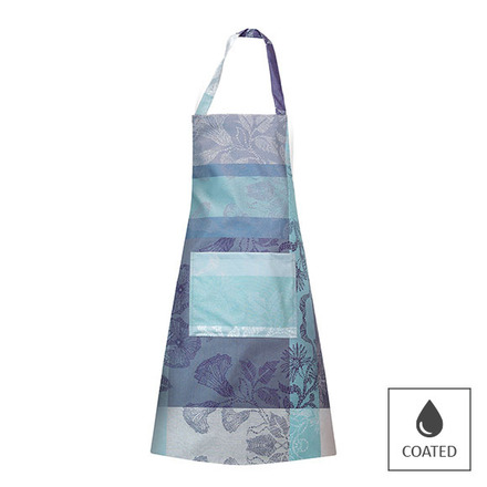 "Mille Fiori Givre Apron 30""x33"", Coated Cotton picture"