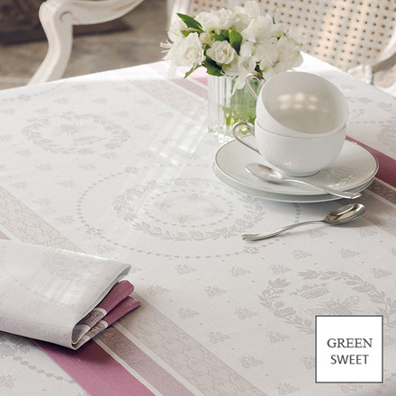 "Abeilles Royales Parme Tablecloth 69""x100"", GS Stain Resistant picture"