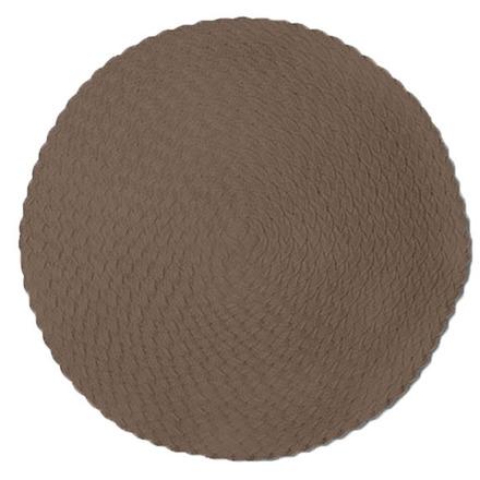 Rosette Chocolate Vinyl Placemat picture