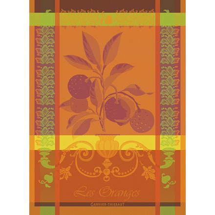 "Torchon Les Oranges Sanguine Kitchen Towel 22""x30"", 100% Cotton picture"