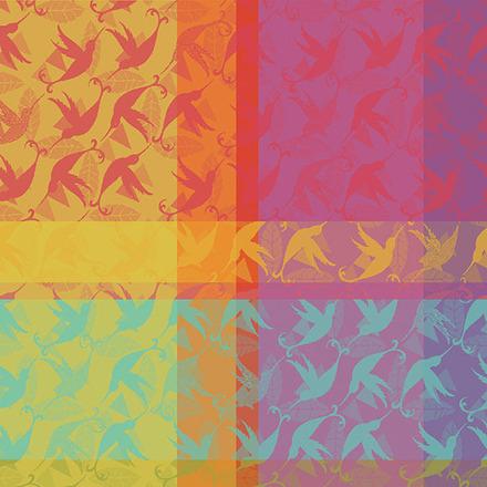 """Mille Colibris Antilles Napkin 22""""x22"""", Cotton - 4ea picture"""