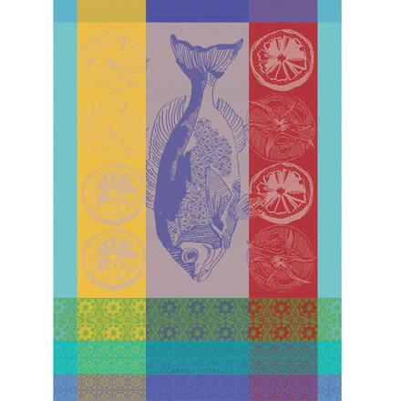 """Plancha Turquoise Kitchen Towel 22""""x30"""", 100% Cotton picture"""
