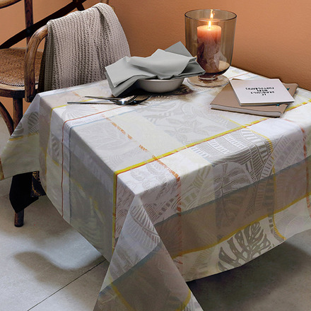 "Mille Tropiques Coco Tablecloth 61""x98"", 100% Cotton picture"