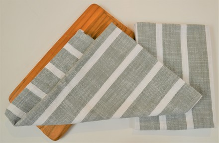 Dobby stripe Kitchen Towel Sage, 100% Cotton picture