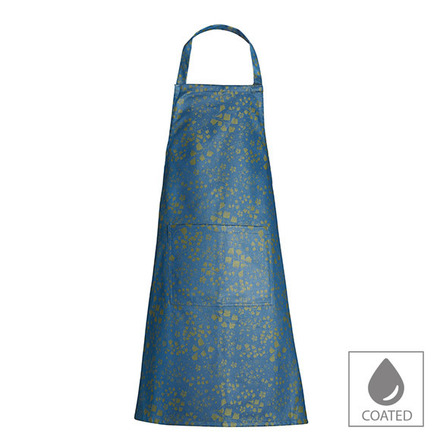"""Mille Branches Mini Paon Apron 30""""x33"""", Coated Cotton picture"""