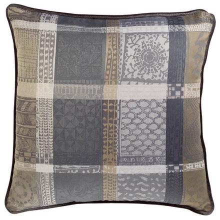 Cushion Cover L Mille Wax Cendre, Cotton - 2ea picture