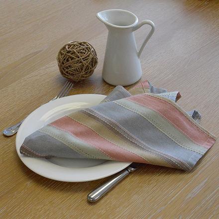 """Camini Multi-Color Striped Bistro Napkin 22""""x23"""", 100% Cotton picture"""