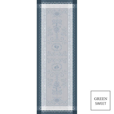 "Bagatelle Flanelle Tablerunner 20""x58"", Green Sweet picture"