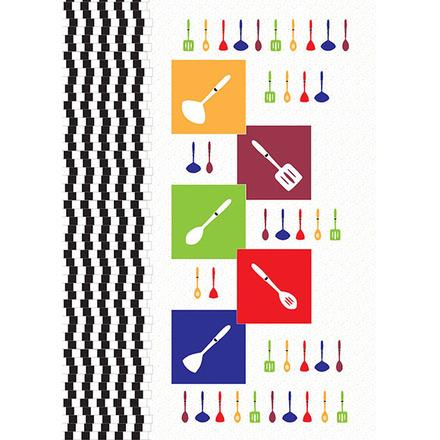 Cuisine Illusion Festival Printed Kitchen Towel picture