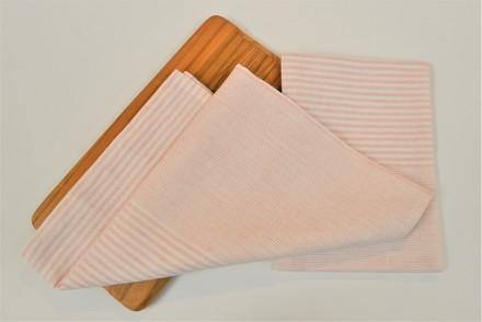 Horizontal Stripe Kitchen Towel Pink, Linen/Cotton picture