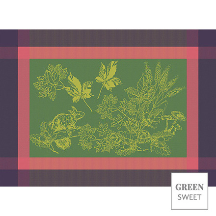 """Plaisirs D Automne Muscat Placemat 22""""x16"""", Green Sweet picture"""