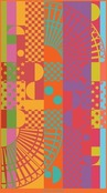 Square Rainbow Beach Towel, Cotton