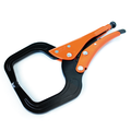 Grip-On GR12406 6-Inch Locking C-Clamp, Long & Large Reach
