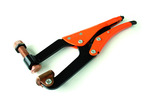 Grip-On GR334070 12-Inch Steel C-Clamp Locking Pliers With Spindle