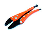 Grip-On GR11205 5-Inch Straight Jaw Locking Pliers - Orange Epoxy