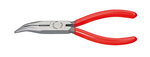 Knipex KN2521160 Chain Nose Side Cutting Pliers, 40 Degree Angled Jaws, Knipex Comfort Handles