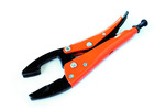 Grip-On GR12210 10-Inch General Purpose Locking Pliers, Flat And Convex - Orange Epoxy