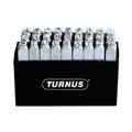 Turnus TN331-001 Nickel-Plated Letter Stamps