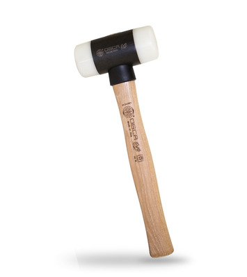 OSCA EVO 12.6-Inch Soft Face Hammer with Steel Body, Interchangeable Nylon Tips & Hickory Handle - 2 LBS picture
