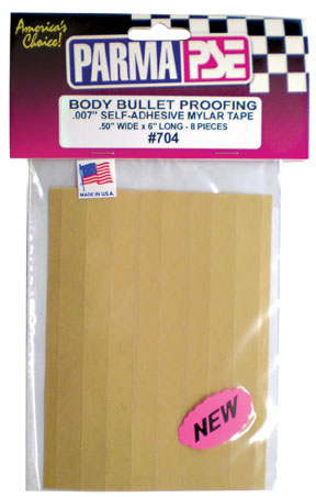 "Body Bullet Proofing Mylar Tape - .50"" x 6"" (8 Pcs) picture"