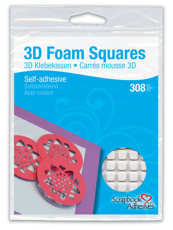 3D Foam Squares - White, Small picture