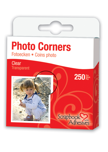 Photo Corners - Polypropylene, Clear picture