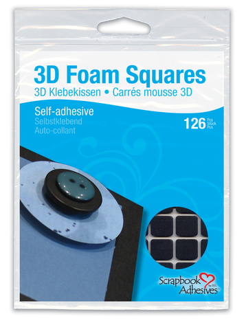 3D Foam Squares - Black, Regular picture