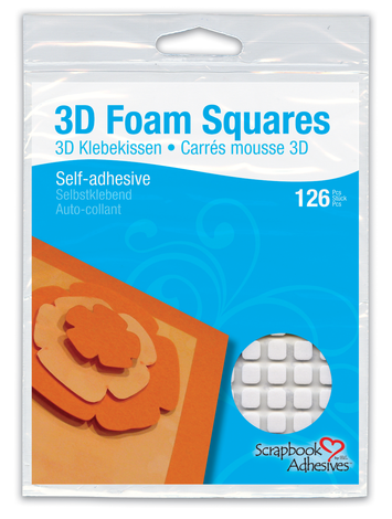 3D Foam Squares - White, Regular picture