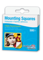 Mounting Squares - 500 White, Temporarily Repositionable