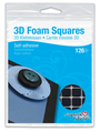 3D Foam Squares - Black, Regular