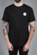 MENS WHITE ROUND LOGO T-SHIRT