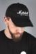 LOW PROFILE CAP WITH WHITE SCRIPT LOGO
