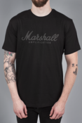MENS BLACK CRACKED LOGO T-SHIRT