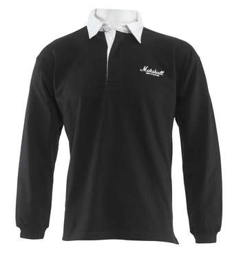 Black Rugby Shirt with Embroidered Logo picture