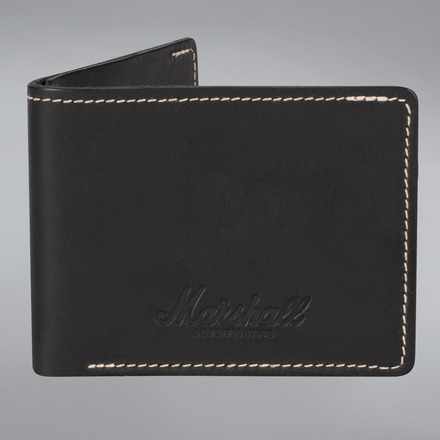 EMBOSSED SCRIPT LOGO BLACK LEATHER WALLET picture