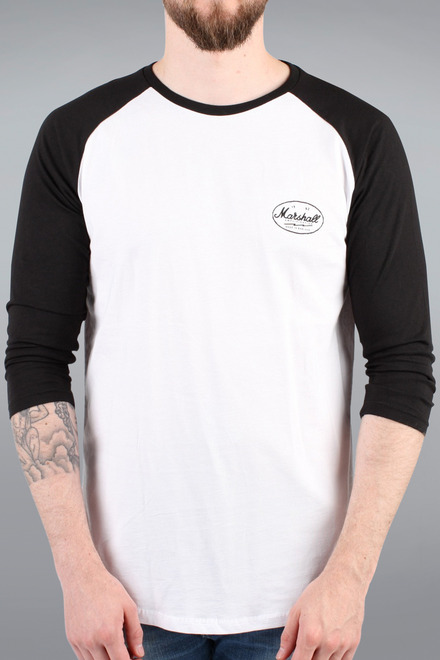 UNISEX BLACK OVAL LOGO BASEBALL SHIRT picture