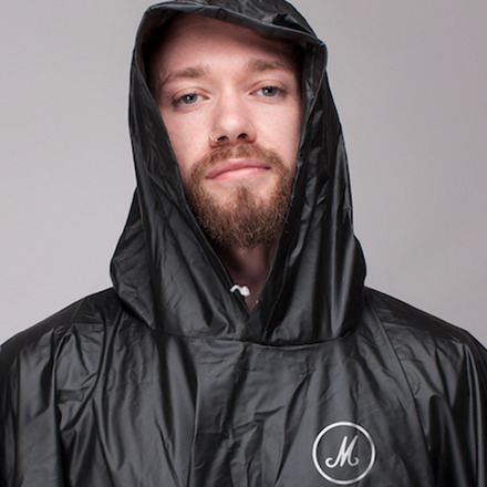 WHITE STYLISED M LOGO BLACK PONCHO picture