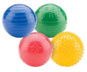 "PVC 4"" Playtime Ball Set - 4 Balls Total"