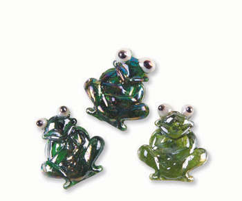 FESTIVE TREASURE GLASS FROG PLAIN 18/BOX picture