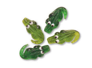 FESTIVE TREASURE GLASS ALLIGATOR 18/BOX picture