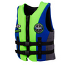 2013 Vision Boy's Front Zip CGA Life Vest (50-90lbs) Blue / Mike Lime - Youth